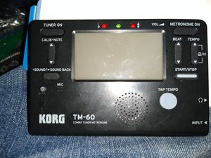 Korg TM 60 tuner and metronome for Sale in Meadows, CO
