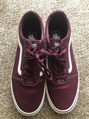 Vans Ward Canvas Burgundy Size 12 for Sale in Richmond, VA