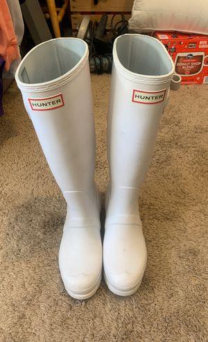 All White Women's Hunter Rain Boots Size 7 for Sale in Murfreesboro, TN