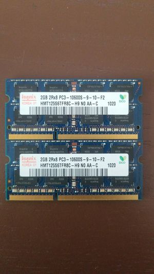 4GB (2x2gb) 2Rx8 PC3 10600s for Sale in New Hope, MN