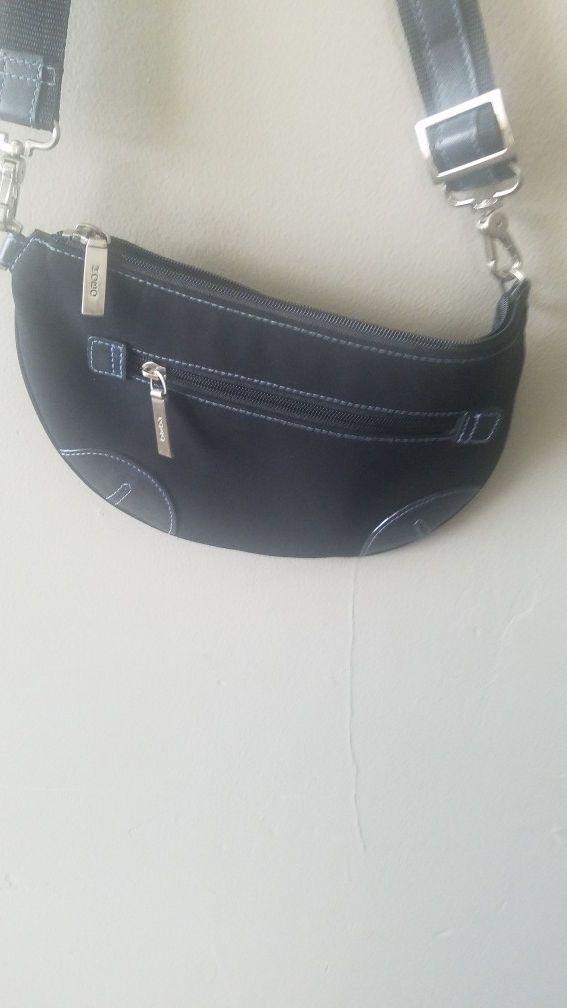 Hobo black bag with strap
