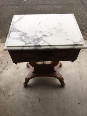 Antique Victorian Marble Top Hall Table for Sale in Boring, OR