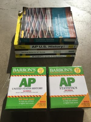 AP books and flash cards for Sale in Yorba Linda, CA
