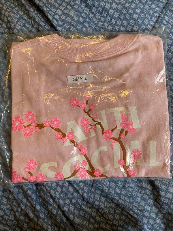 Anti Social Social Club Cherry Blossom T-Shirt 'Pink' Size S