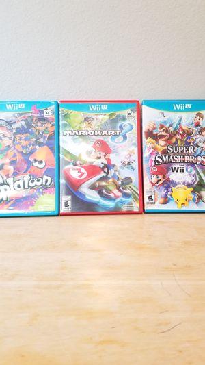 Nintendo Wii U Mario Games Mario Kart Super Smash Bros. for Sale in Huntington Beach, CA