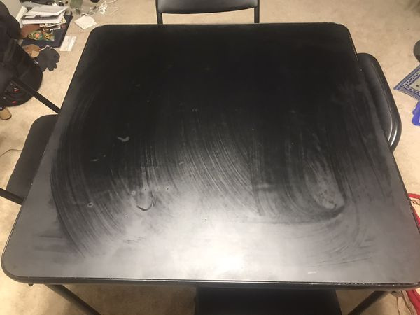 Foldable Dinner table for four