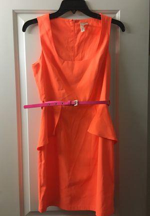 Hot orange dress with hot pink belt for Sale in Roseville, CA