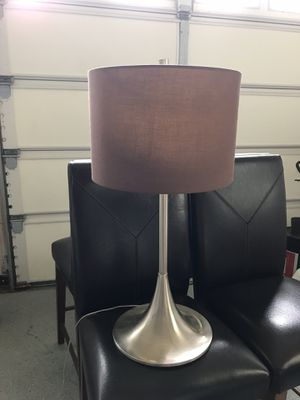 Silver Lamp with Brown Shade for Sale in White Plains, MD