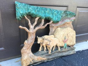 Wood sculpture , single piece wall art, excellent condition for Sale in Chandler, AZ