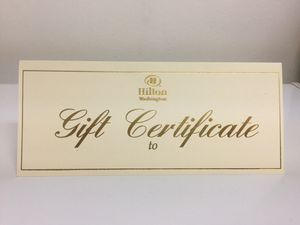 Washington Hilton gift certificate for Sale in Annandale, VA