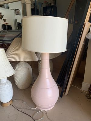 Huge pink lamp for Sale in Delray Beach, FL
