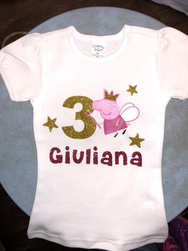 Peppa Pig Birthday Shirt For Sale In San Antonio TX
