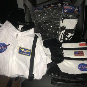 NASA Astronaut Costume In White USA Costume Space Shoe Gloves Helmet for Sale in Murrieta, CA
