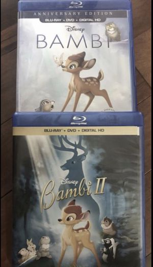 Bambi and Bambi 2 Blu-Ray all for $20, Disney Marvel DC Harry Potter the Star Wars movies 3D Bluray and dvd collectors for Sale in Everett, WA