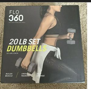 Flo 360 20lb set dumbbells for Sale in San Jose, CA