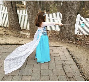 2 Elsa / Frozen party dress or costumes and 3 new plates lot for Sale in Silver Spring, MD