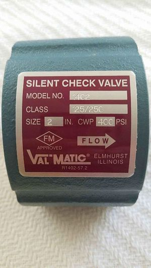 2in. Wafer Style Silent Check Valve - VAL MATIC $250 for Sale in Sacramento, CA