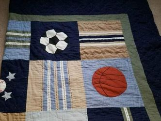 SPORTS THEME FULL SIZE COMFORTER/QUILT AND 2 SHAMS for Sale in Monroe Township,  NJ