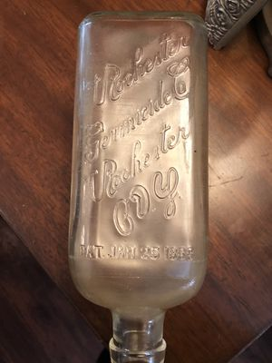 """""""RARE"""" Rochester Germicide Antique glass EMBALMING funeral date January 25 1888. A true antique. 35.00. 212 north Main Street Buda 🎅🏼Johanna. Vinta for Sale in Austin, TX"""
