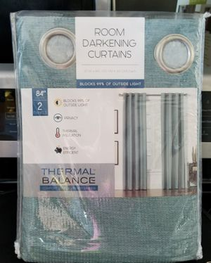 """SILK HOME BLACKOUT CURTAINS...........NOISE REDUCTION ........84""""......LENGHT........52""""......WIDE......2 PANELS...........BRAND NEW..... for Sale in Kissimmee, FL"""