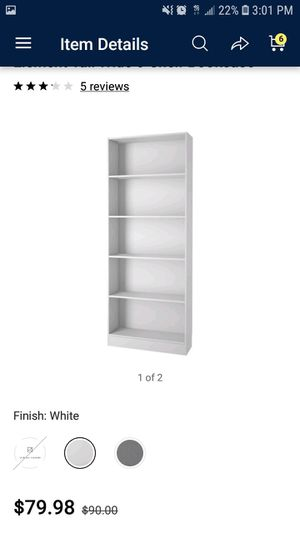 White 5 bookshelves for Sale in Shafter, CA