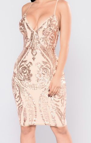 Fashion Nova Rose Gold dress Size XS for Sale in Oakland, CA