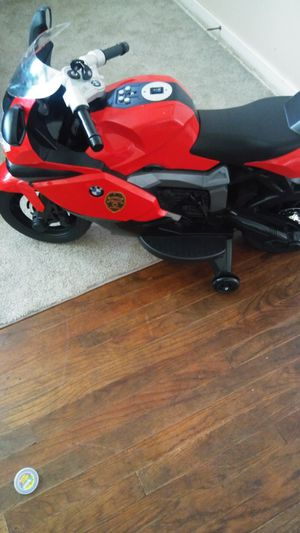 Hi friends i got bmw motorcycle still brand new few times use my son bought a blue one no need this one everything works comes with chargers. $120 for Sale in Stockton, CA