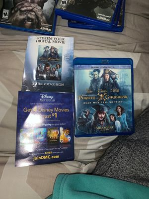 BLU-RAY PIRATES OF THE CARIBBEAN MOVIE for Sale in Palmdale, CA