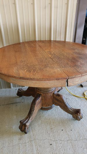 Table Claw foot round wood for Sale in Frankford, MO