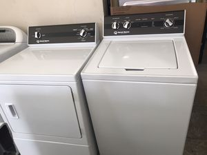 Used, new model matching set speed queen washer & electric dryer, white color, heavy duty, commercial quality , great condition for Sale in San Jose, CA