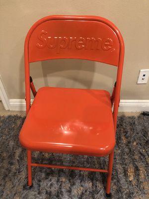 Supreme Red Metal Folding Chair for Sale in La Habra, CA