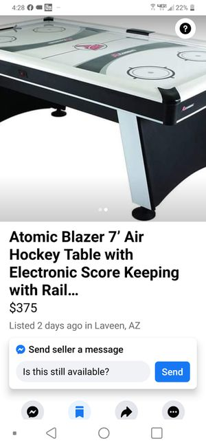 Atomic Blazer 7' Air Hockey Table with Electronic Score Keeping with Rail… for Sale in Laveen Village, AZ