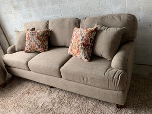 Living room couch with pillows for Sale in Miami, FL