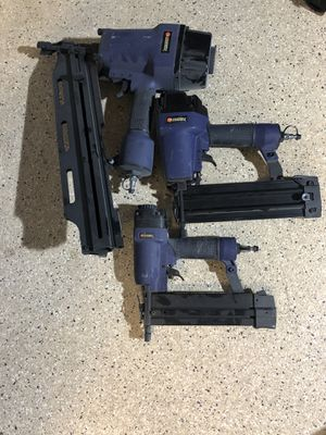 Campbell Hausfeld nail guns/ nailers (set of 3) for Sale in Mission Viejo, CA