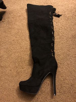 Mid thigh high boots for Sale in Lakewood, WA