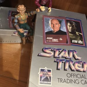 StarTrek Trading Cards With Action Figures for Sale in Lehigh Acres, FL