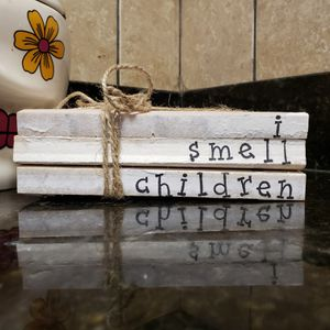 Fall and Halloween home decor. Hocus Pocus decorations. Stamped Stacked books for Sale in Caseyville, IL