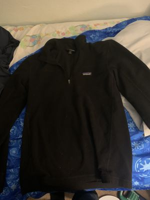 Patagonia micro d fleece pullover black size m for Sale in Mesquite, TX