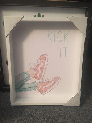 Kickin it sign decor framed 9.5x11.5 in. for Sale in New Brunswick, NJ