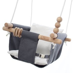 ✨ Wooden Hanging Swing Seat Chair with a Baby, Infant, Toddler, Kids Toys - Portable Indoor and Outdoor Hammock, for Porch, Tree Swings Outside Swing for Sale in Anaheim, CA