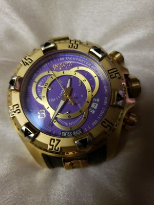 🤩🤩 PREOWN MEN INVICTA RESERVE WATCH 🤩🤩 NEED WRIST BAND AND BATTERY ONLY for Sale in Decatur, GA