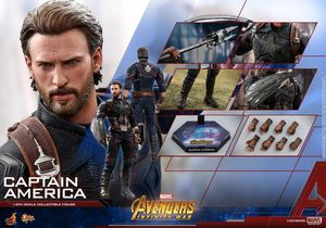 Hot Toys 1/6 Avengers Infinity War Captain America Sixth Scale Figure MMS480 for Sale in Leesburg, VA