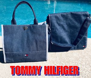 VINTAGE TOMMY HILFIGER TOTE & MESSENGER BAG for Sale in Peoria, AZ