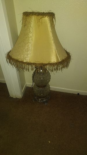 Vintage Crystal Ball Lamp for Sale in Whittier, CA