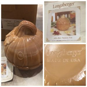 "LONGABERGER fall thanksgiving milk glass 7"" swirl 2 pc dish bowl.NEW in Box MINT condition FIRM $ for Sale in Laguna Beach, CA"