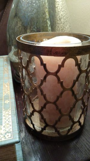 Hurricane Candle Lamp Decor Antiqued for Sale in Valrico, FL