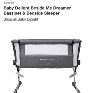 Baby Delight Bedside Bassinet And Lillebaby Baby Carrier for Sale in Cleveland, OH