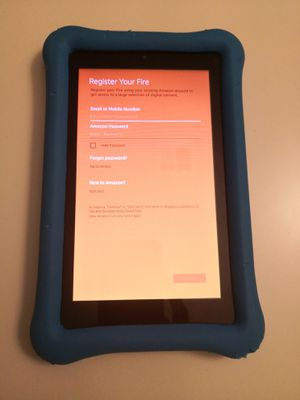 """Fire 7 Kids Edition Tablet, 7"""" Display, 16 GB, Blue Kid-Proof Case - (Previous Generation - 7th) for Sale in Frederick, MD"""