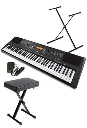 Yamaha 76-key ew300 Keyboard with stand, bench, and sustain pedal. for Sale in Smyrna, GA