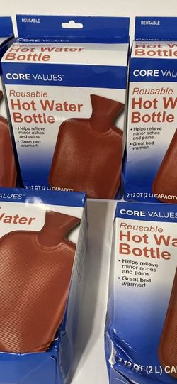 Reusable medical Hot Water Bottle, Core Values, Helps Relieve Aches & Pains (5) for Sale in Sloan,  NV